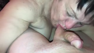 Sexy Granny Swallows After Blowing My Sweet Dick