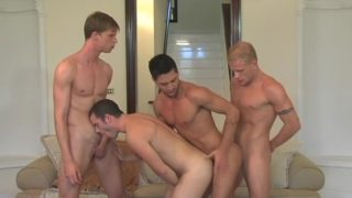 Luke Riley, Justin Taylor And Shane Frost In De-briefed (2008)